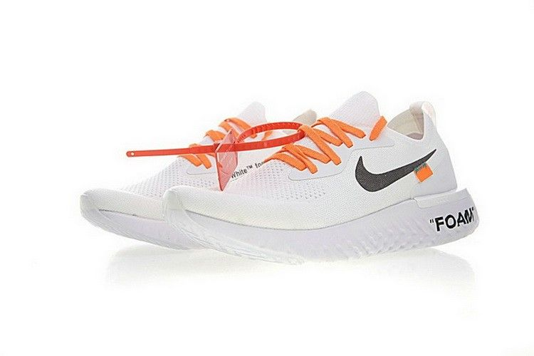 newest 6662c 865cf Off White x Nike Epic React Flyknit Bianca | 12-OFF WHITE SCARPE in 2019