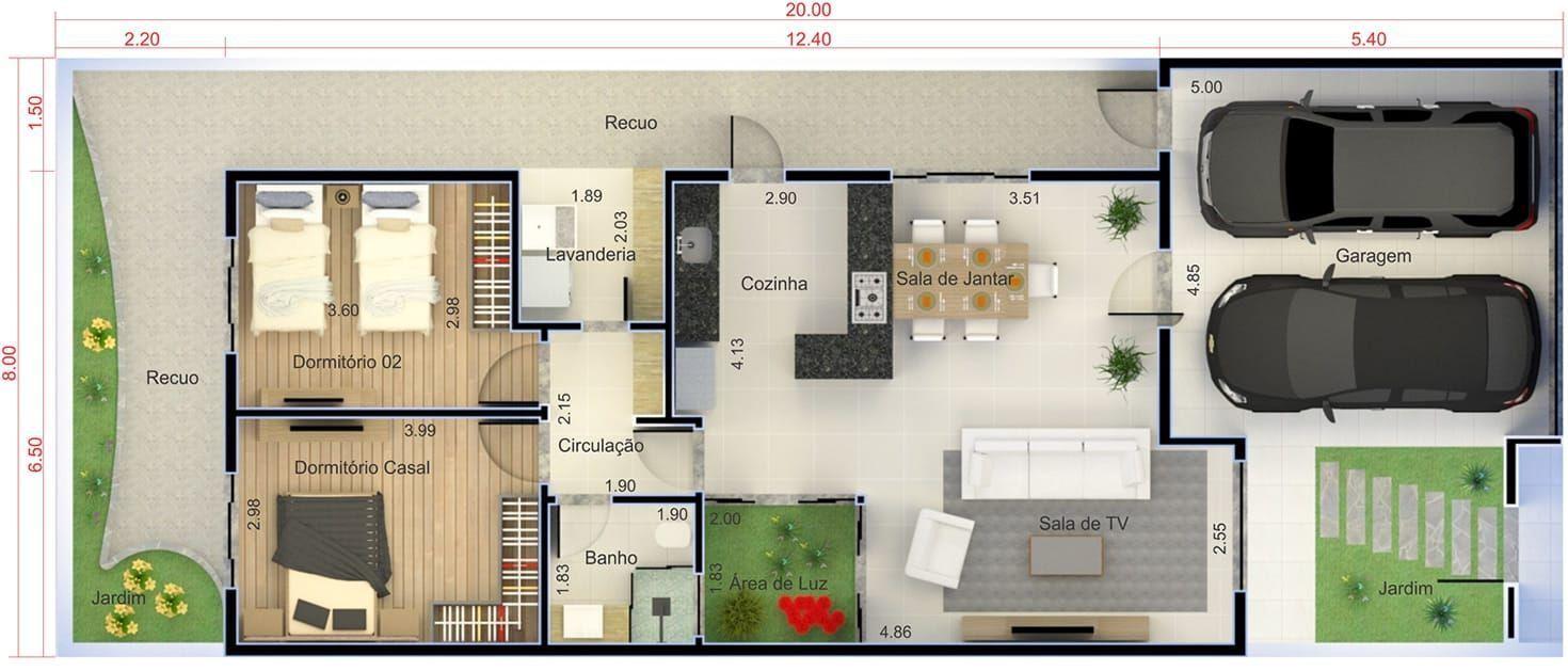 Plano de casa con cocina americana plano para terreno for Planos de cocina americana