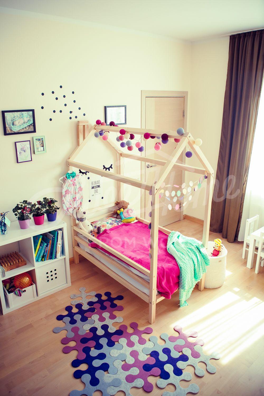 Letto Montessori.Toddler Floor Bed House Bed Frame Wood Toddler Bed Frame Lit