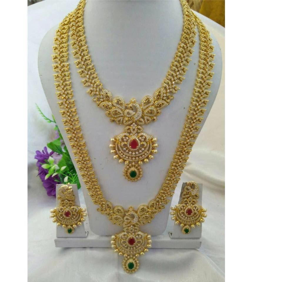 Beautiful one gram gold long chains u All are glitters but seems to