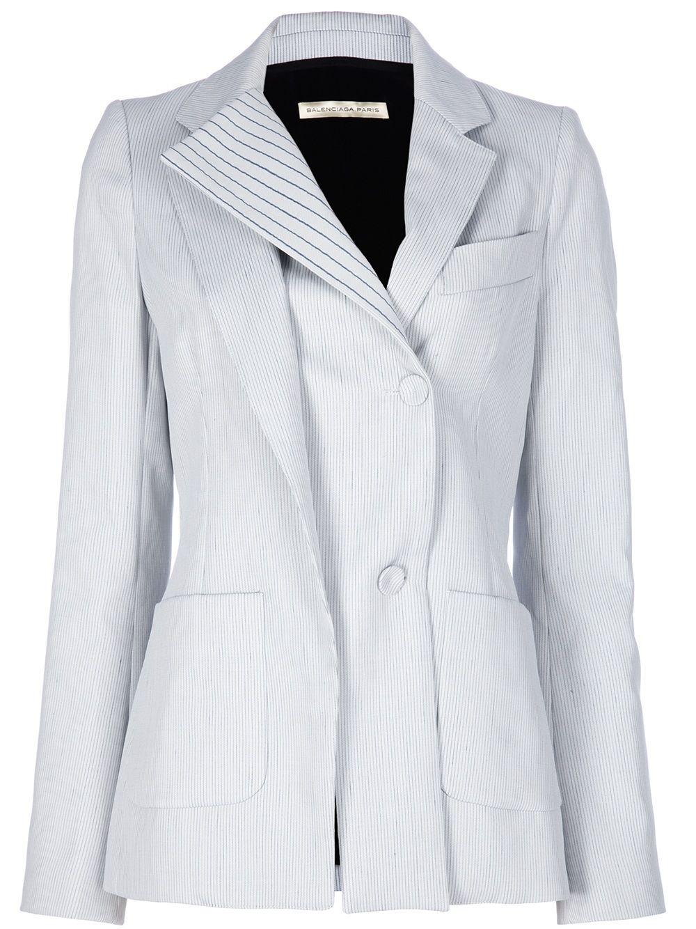 BALENCIAGA layered blazer