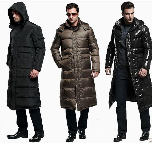 45403988a 3 COLOR Men's Full Length DuCK Down Hooded Long Puffer Jacket Coat ...