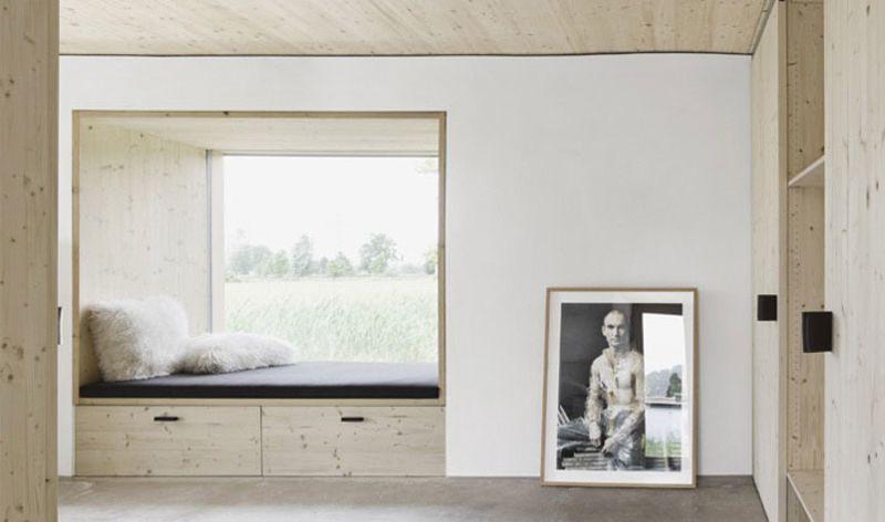 Strohhaus In Dornbirn, Österreich, Georg Bechter Architektur Und Design,  2014, Ansicht Innen, Nische , Foto