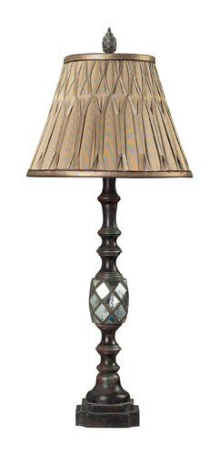 Dimond Sterling Industries 939228 Mirrored Table Lamp With Pinch Pleated Shade -- See this great product.