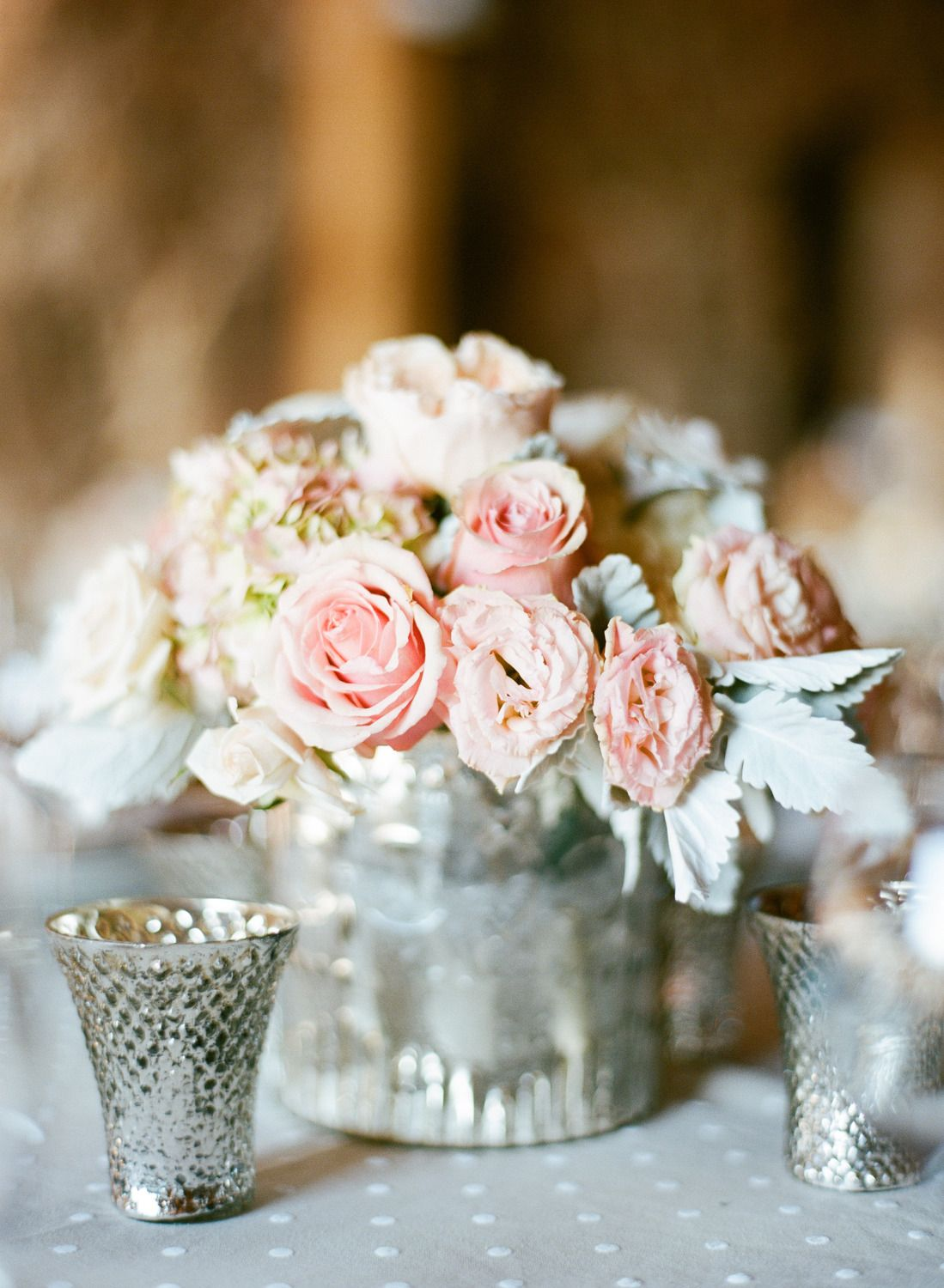 #mercury-glass, #centerpiece  Photography: Sylvie Gil Photography - sylviegilphotography.com  Read More: http://www.stylemepretty.com/2013/10/31/santa-margarita-ranch-wedding-from-sylvie-gil-touch-of-style/