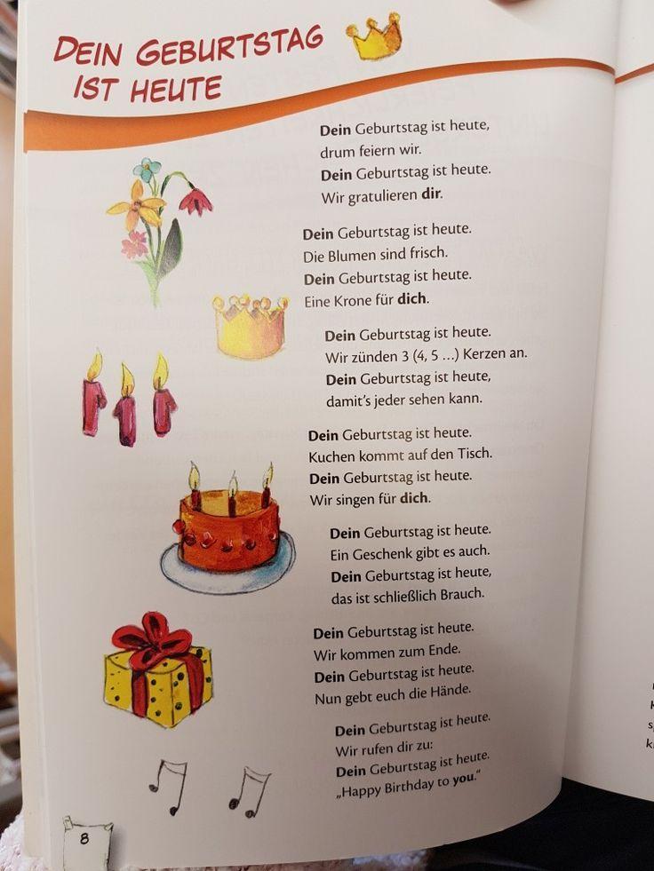 Dein Geburtstag Ist Heute Gedicht Kita Kinderga Dein