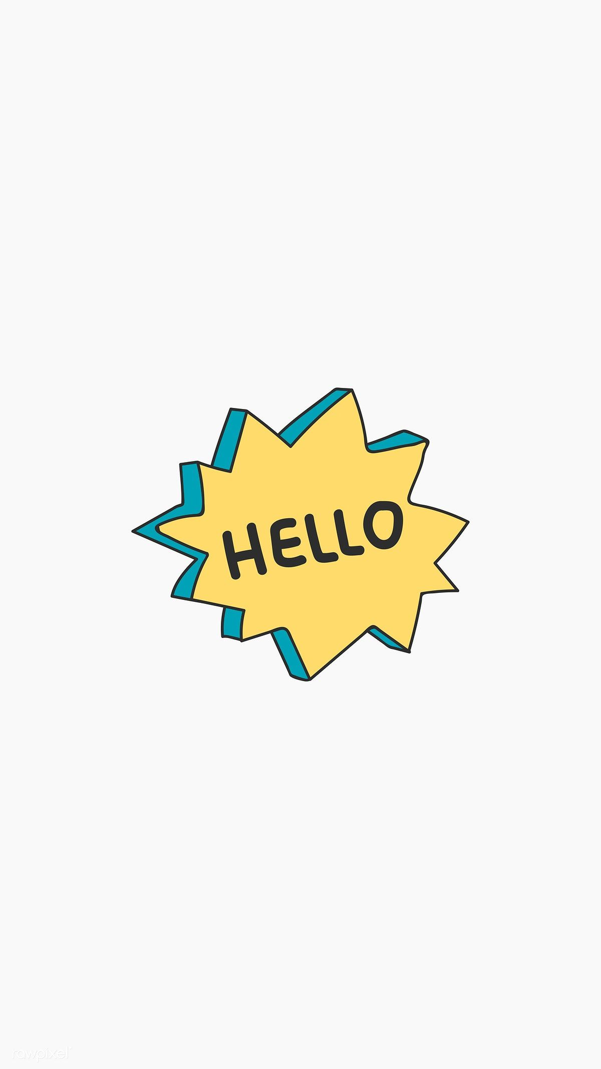 Hello Greeting Bubble Icon Vector Free Image By Rawpixel Com Wan Hello Wallpaper Hello Greeting Iphone Wallpaper Pattern Aesthetic bubble letters wallpaper