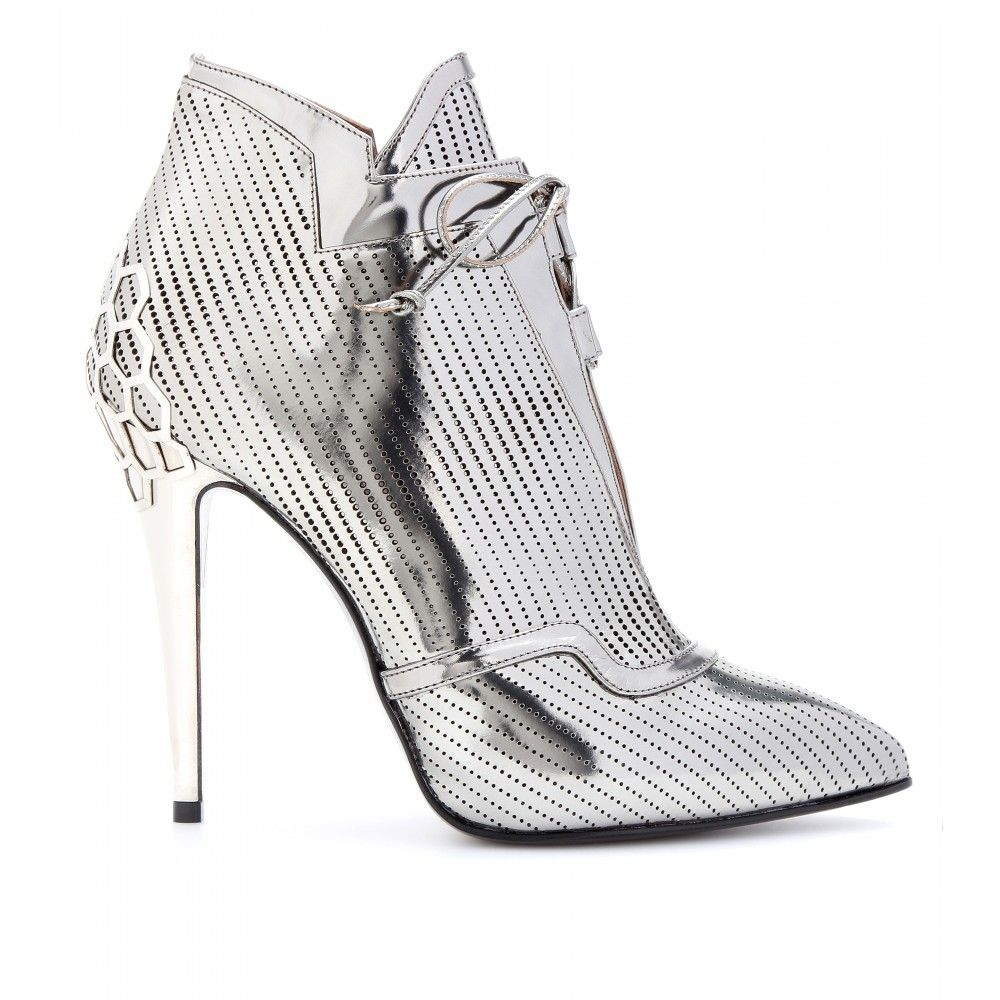 3ea66b0c1 mytheresa.com - Perforated-leather ankle boots - Luxury Fashion for Women    Designer clothing