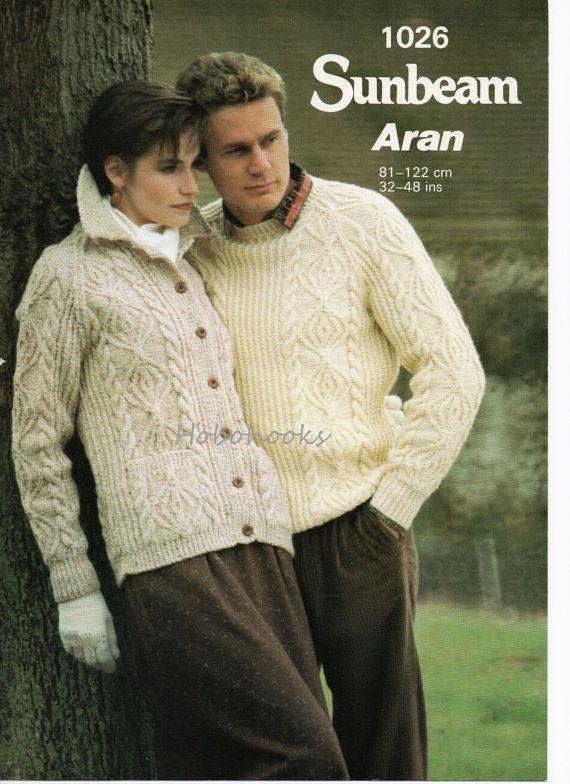 Womens Aran Cardigan Mens Aran Cardigan Aran Jacket Aran Sweater