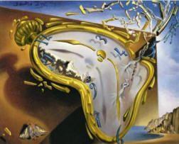 Famous Salvador Dali Clock Explosion.