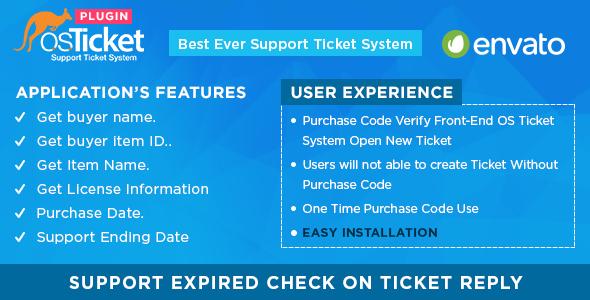 Envato Purchase Code Verifier For OsTicket System | Best Wordpress