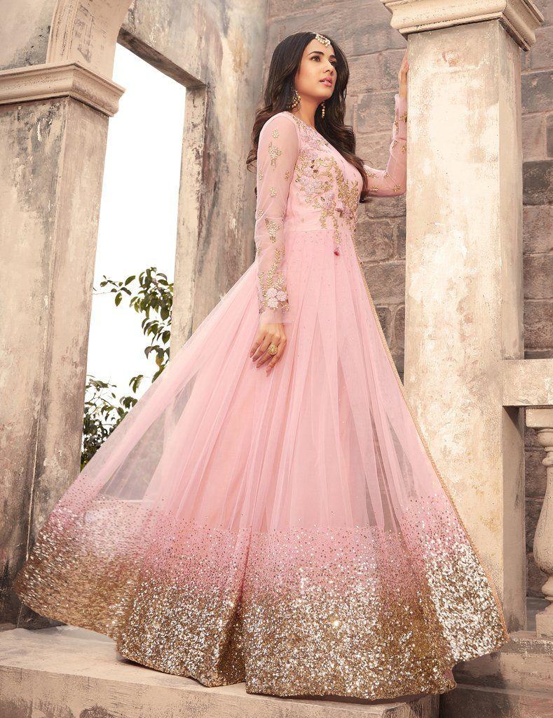 23adf2d921d5 Light Pink Designer Embroidered Net Anarkali Suit. Light Pink Designer  Embroidered Net Anarkali Suit Pakistani Dresses, Bridal ...