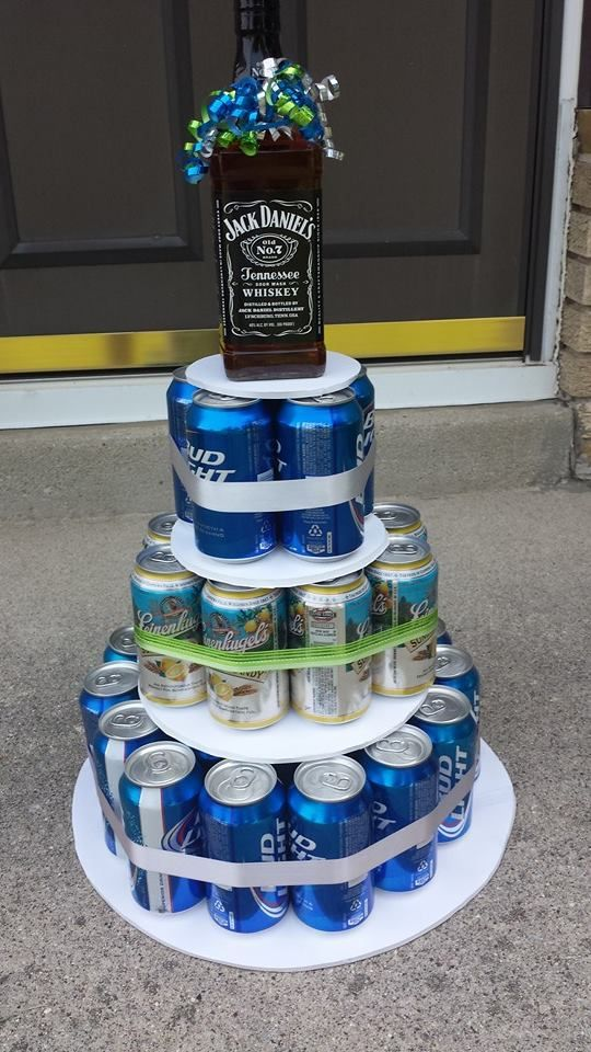 bachelor party beer cake