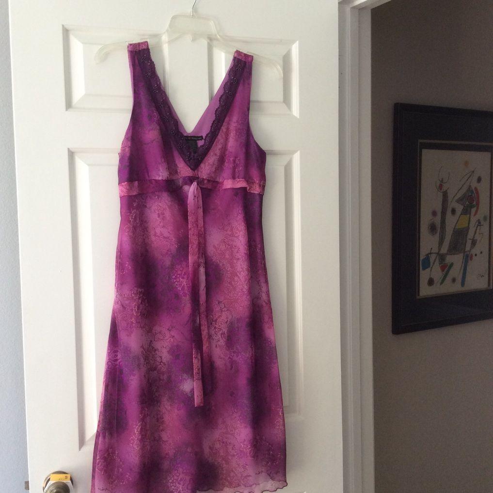 Purple Floral Sleeveless Summer Dress