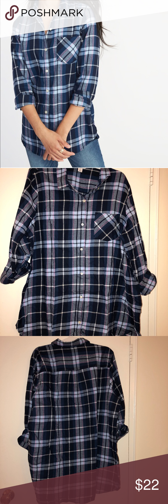 a369fd5e13f OLD NAVY Relaxed Twill Tunic Shirt for Women OLD NAVY Relaxed Twill Tunic  Shirt for Women Old Navy Tops Button Down Shirts