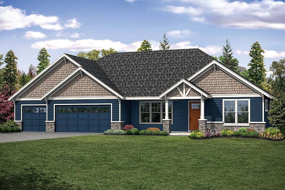 Ranch Style House Plan 41318 With 4 Bed 3 Bath 3 Car Garage Garage House Plans Ranch Style House Plans Ranch House Plans