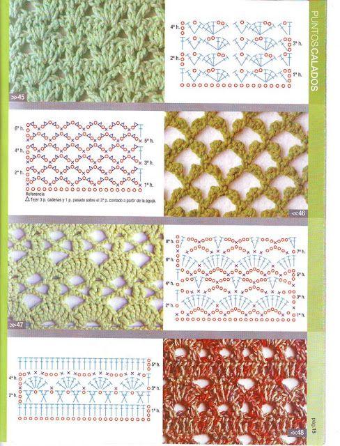 patrones asgaya: PUNTOS CALADOS CROCHET | Gráficos de crochet ...