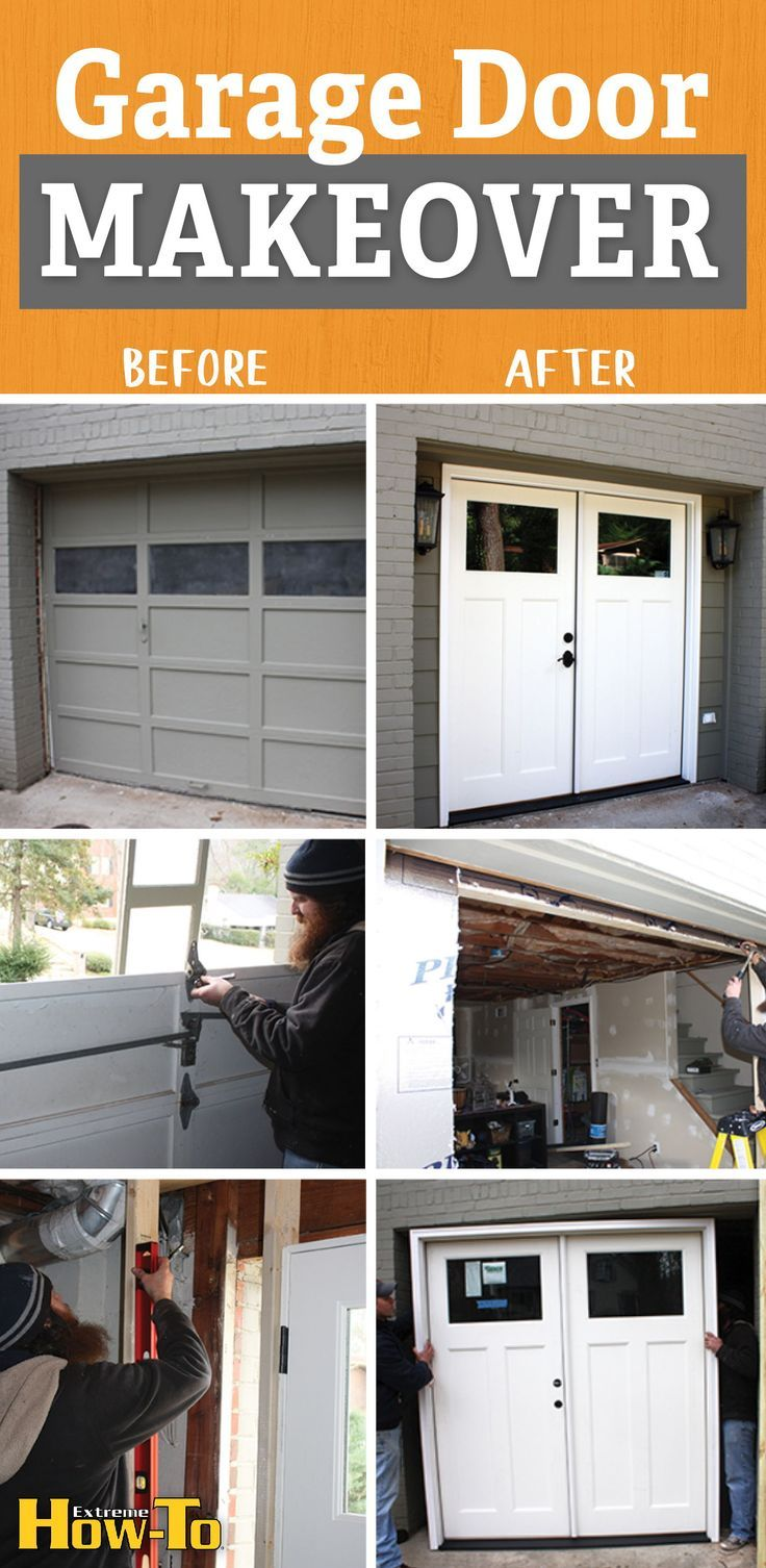 Double Door Garage Conversion Extreme How To In 2020 Garage Doors Diy Garage Door Small Garage Door