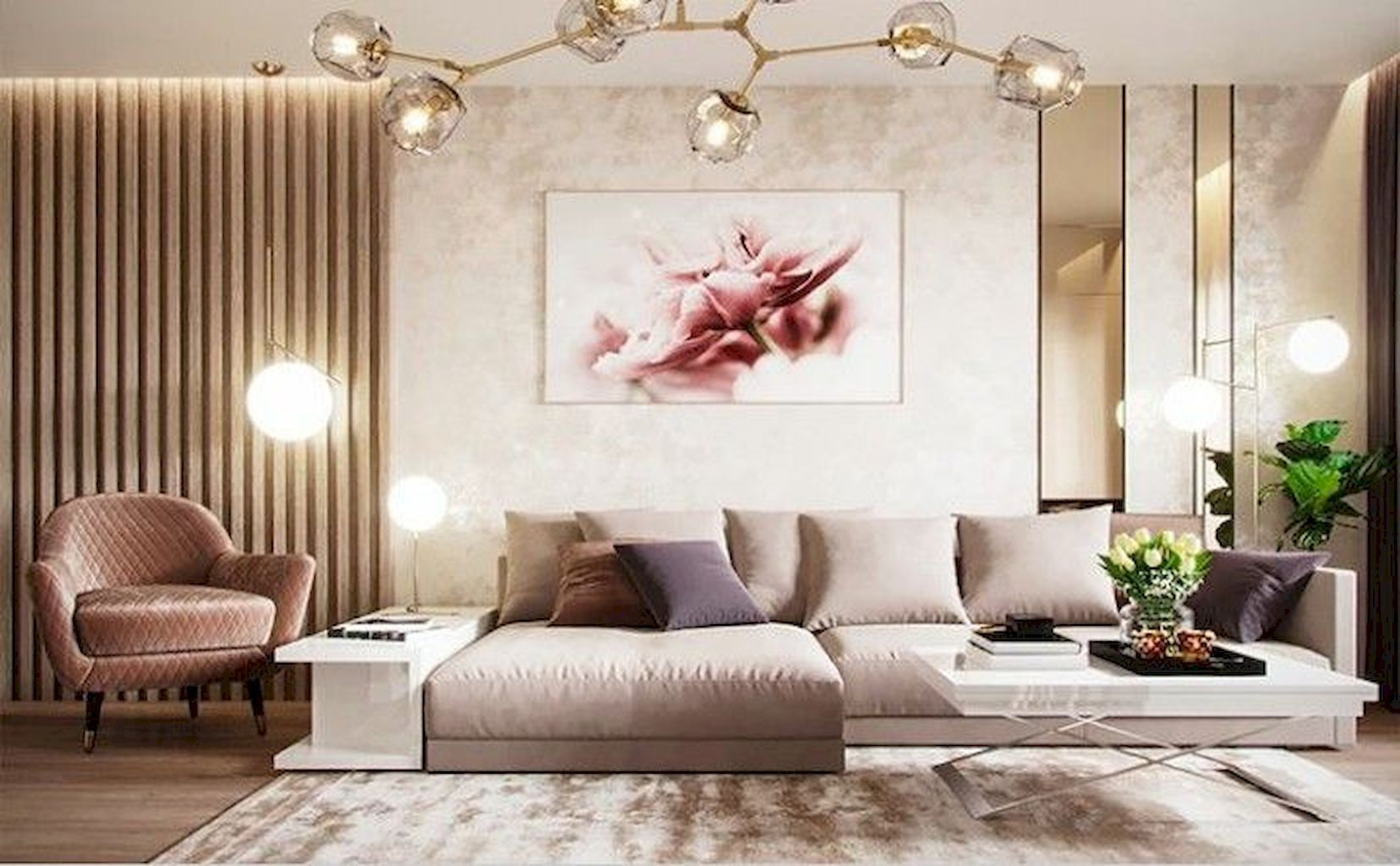 Awesome 50 Modern Glam Style Living Room Ideas H