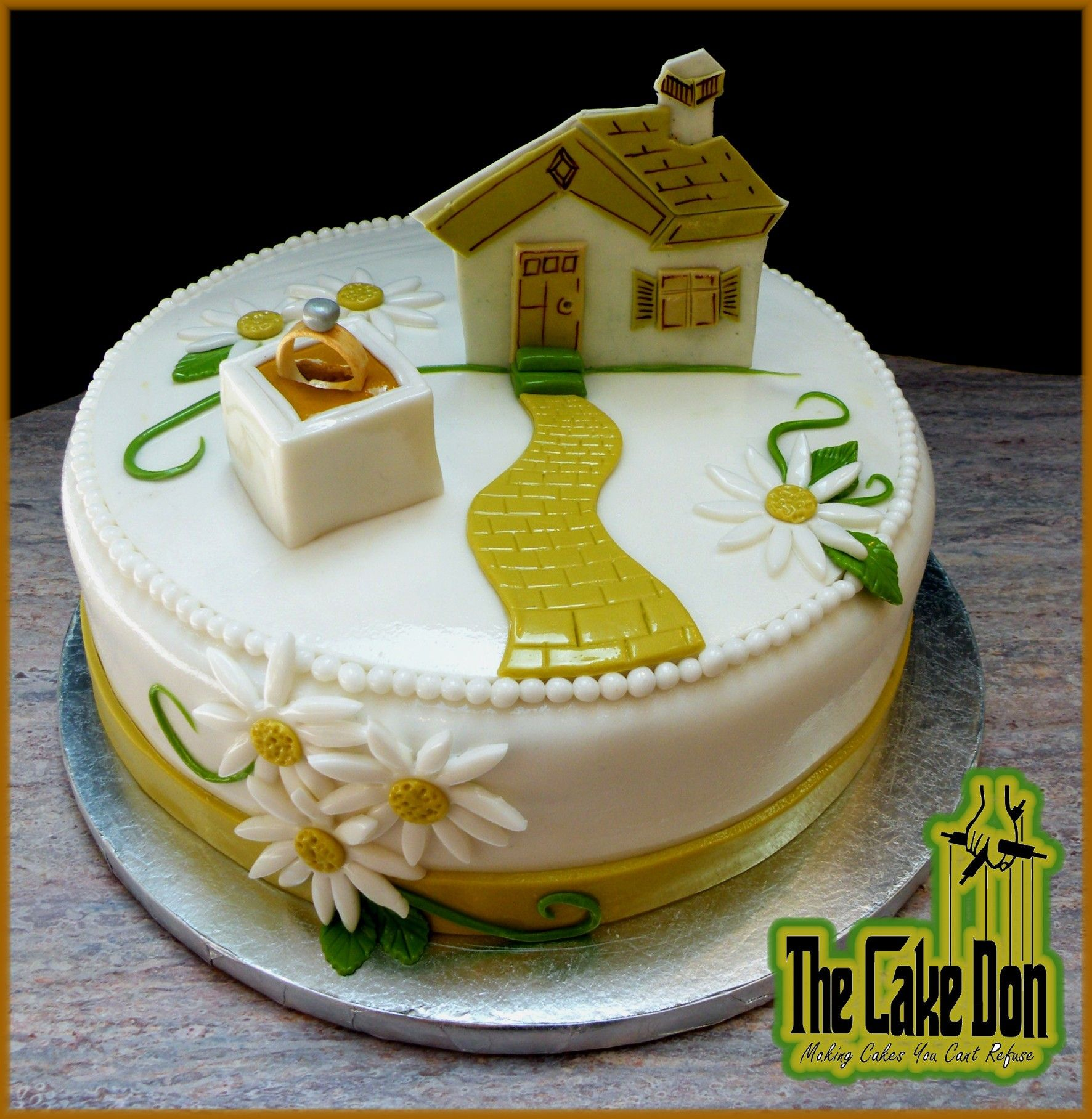 The engagement housewarming party cake by don also rh ro pinterest