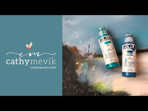 (104) Art Tutorial - Abstract landscape painting - YouTube