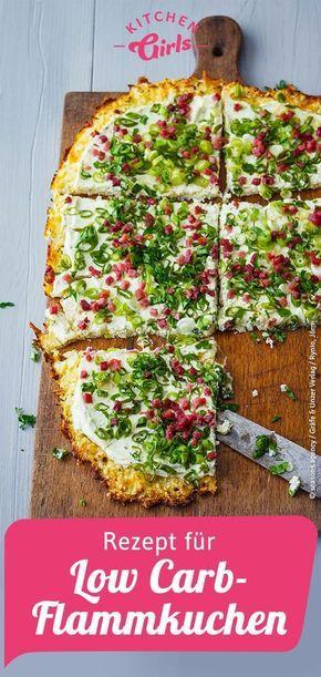 Photo of Recipe for low carb tarte flambée
