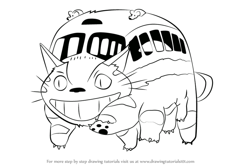 Learn How To Draw Catbus From My Neighbor Totoro My Neighbor Totoro Drawing My Neighbor Totoro Totoro