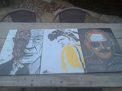 #Breaking bad #canvas prints. set of three. walter, #jesse & gus.,  View more on the LINK: 	http://www.zeppy.io/product/gb/2/111977682328/