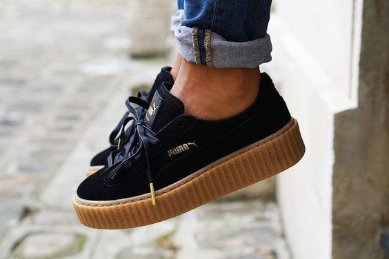 3fe26acf5790 Rihanna x Puma Velvet Creepers  Fenty - Gum Soles Women s  Fenty X  Puma by   Rihanna  Fashion  Footwear  Sneakers  Apparel  Style  Shoes  FentyXPuma    ...