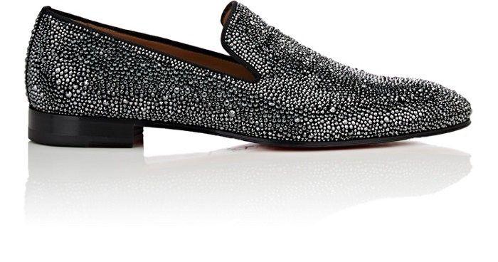 67e523936002 CHRISTIAN LOUBOUTIN Dandelion Strass Flat Suede Venetian Loafers.   christianlouboutin  shoes  all