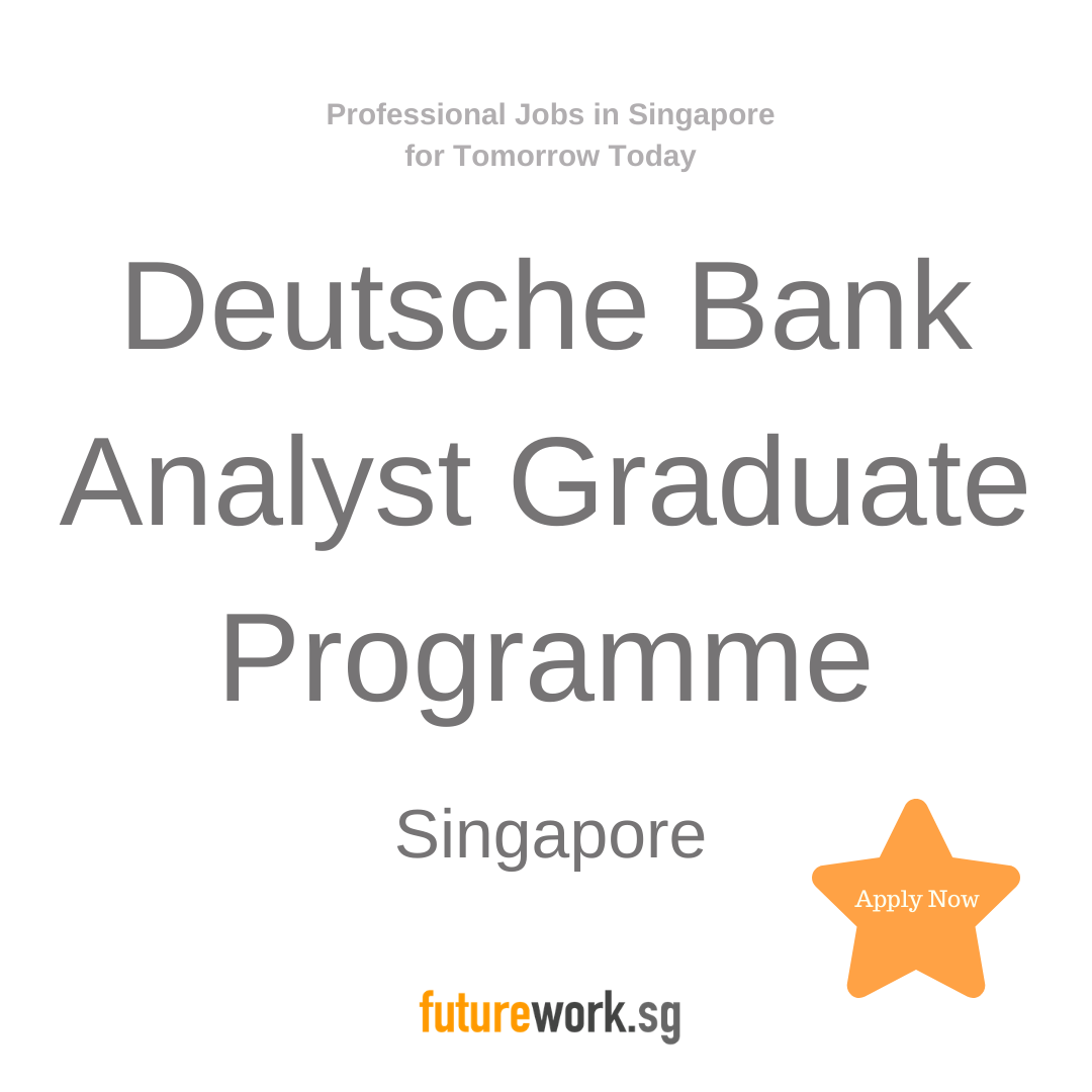 Deutsche Bank Analyst Graduate Programme Investment Bank