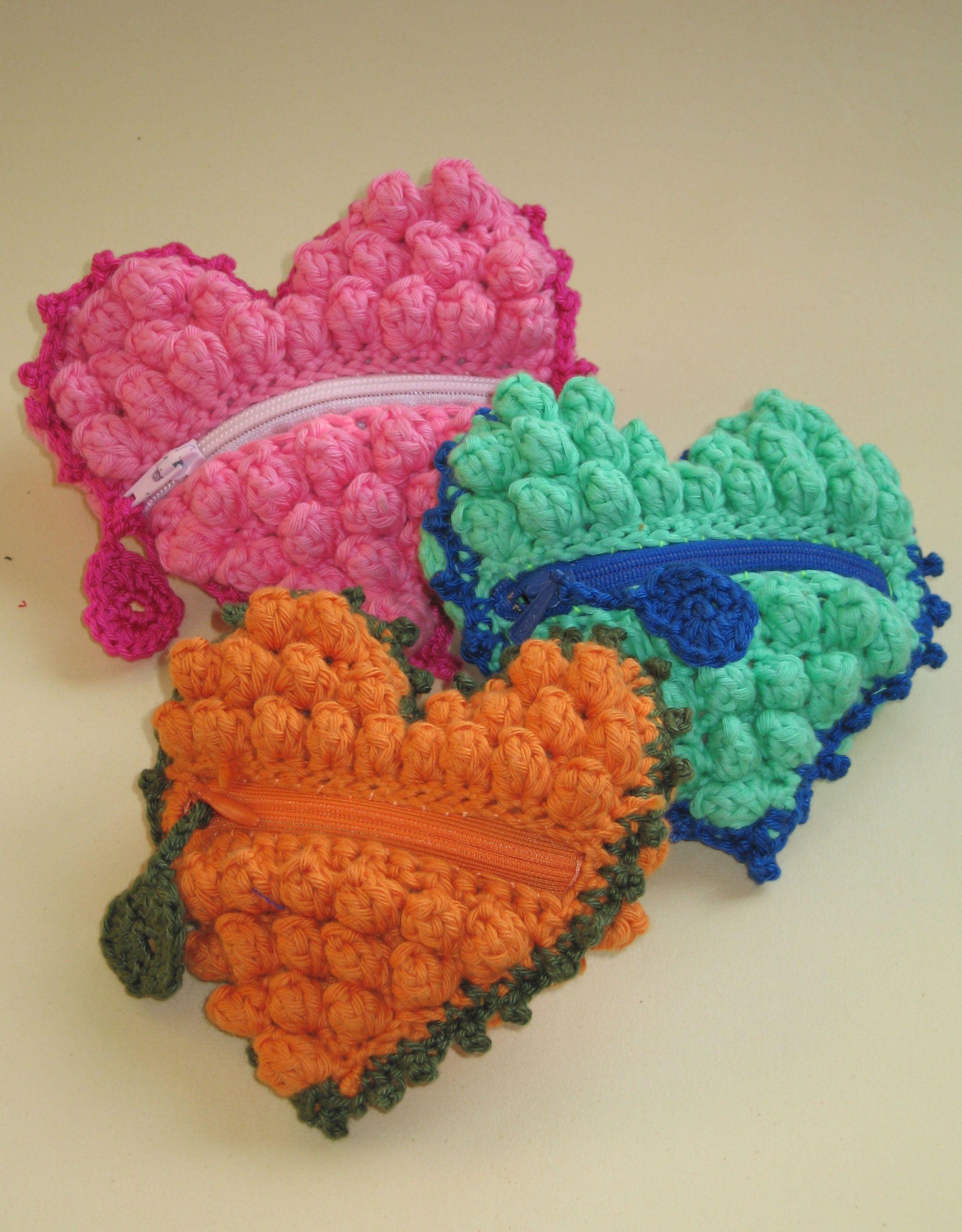 Monederos con forma de corazón | Crochet | Pinterest | Herzchen