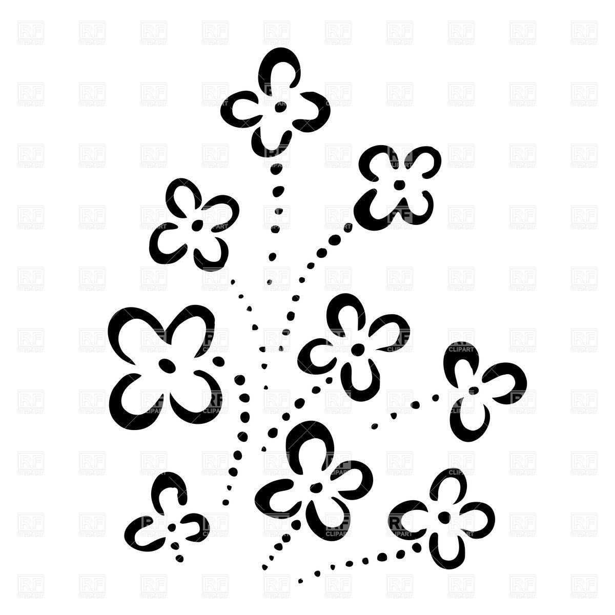 Simple Flower Designs Clipartsco Arts Crafts Pinterest