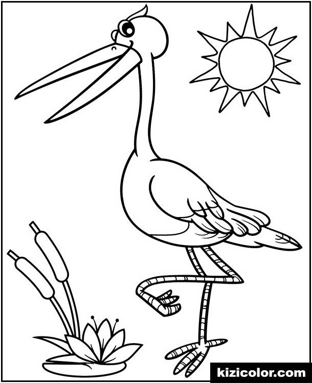 Stork Coloring Page Supercoloring Pages Bird Coloring Pages Coloring Pages Free Coloring Pages