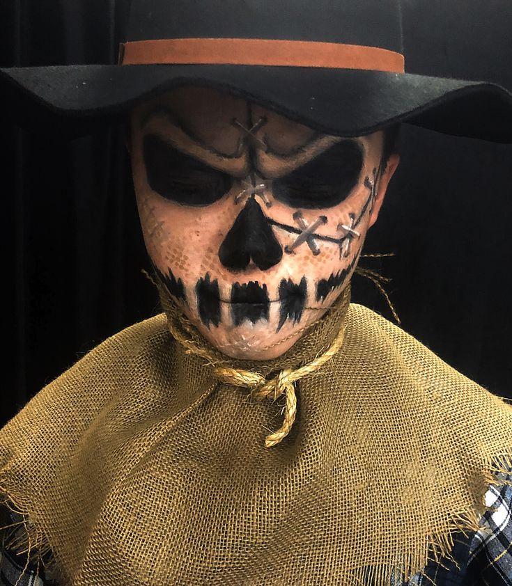Scary Scarecrow Makeup. Halloween Makeup. Halloween Costume. Creepy Makeup. SFX Makeup. - Vogelscheuche - #costume #Creepy #Halloween #Makeup #Scarecrow #Scary #SFX #Vogelscheuche #scarecrowcostumediy