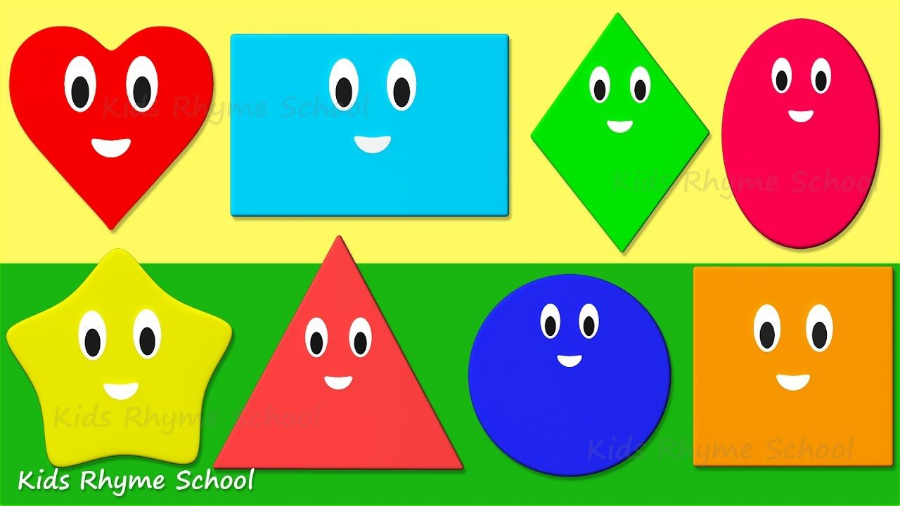Shapes for kids in English │ Learn 15 basic shapes for children ...