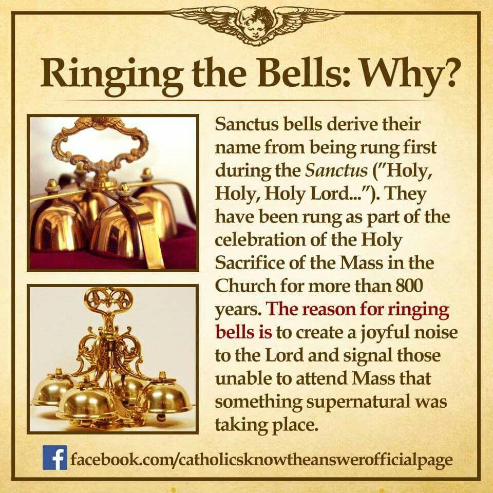 Ring the bells during Catholic mass RCIA Pinterest