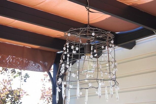 Lampadario Allaperto : Tomato cage chandelier for the home pinterest illuminazione