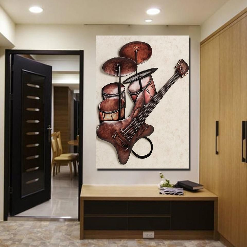 Instruments Rock Deco Murale Tableau Mural Parement Mural