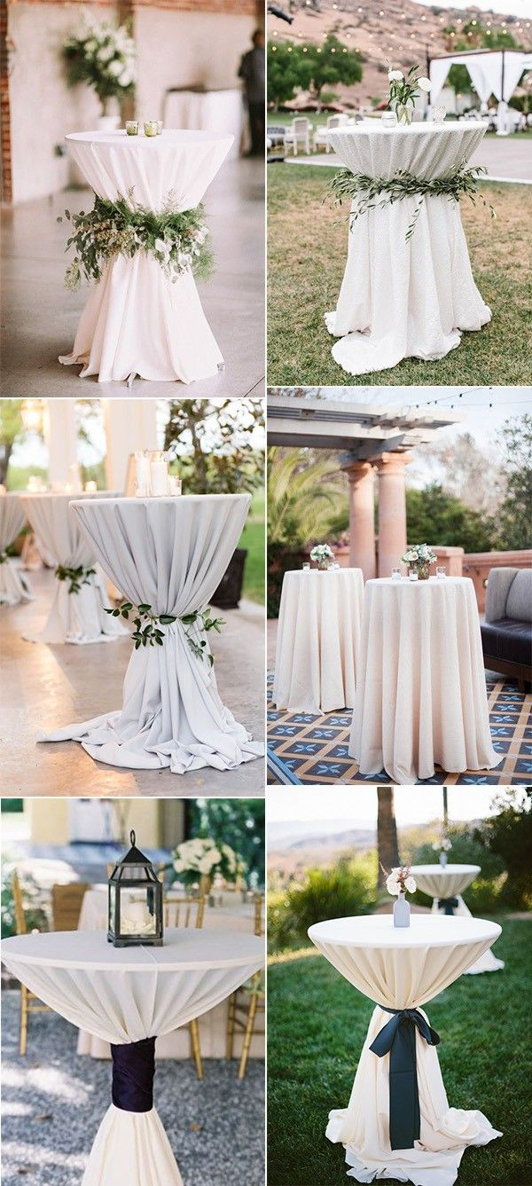 20 Perfect Wedding Cocktail Table Decoration Ideas For Your Big