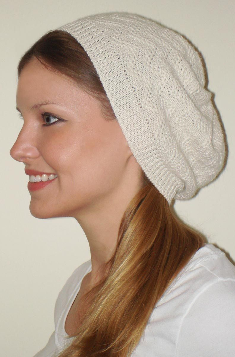 Fancy Knit Slouchy Beanie Pattern Crest - Blanket Knitting Pattern ...