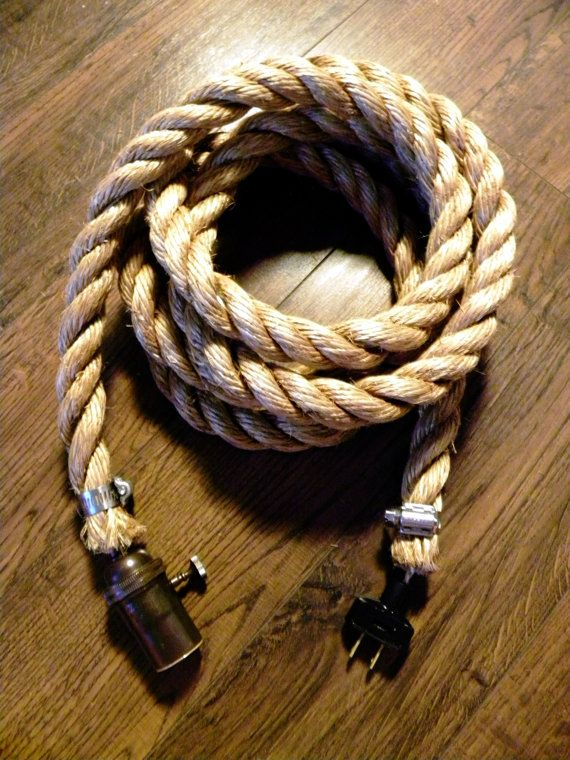 Rope Pendant Light Modern Industrial Chandelier by HangoutLighting ...