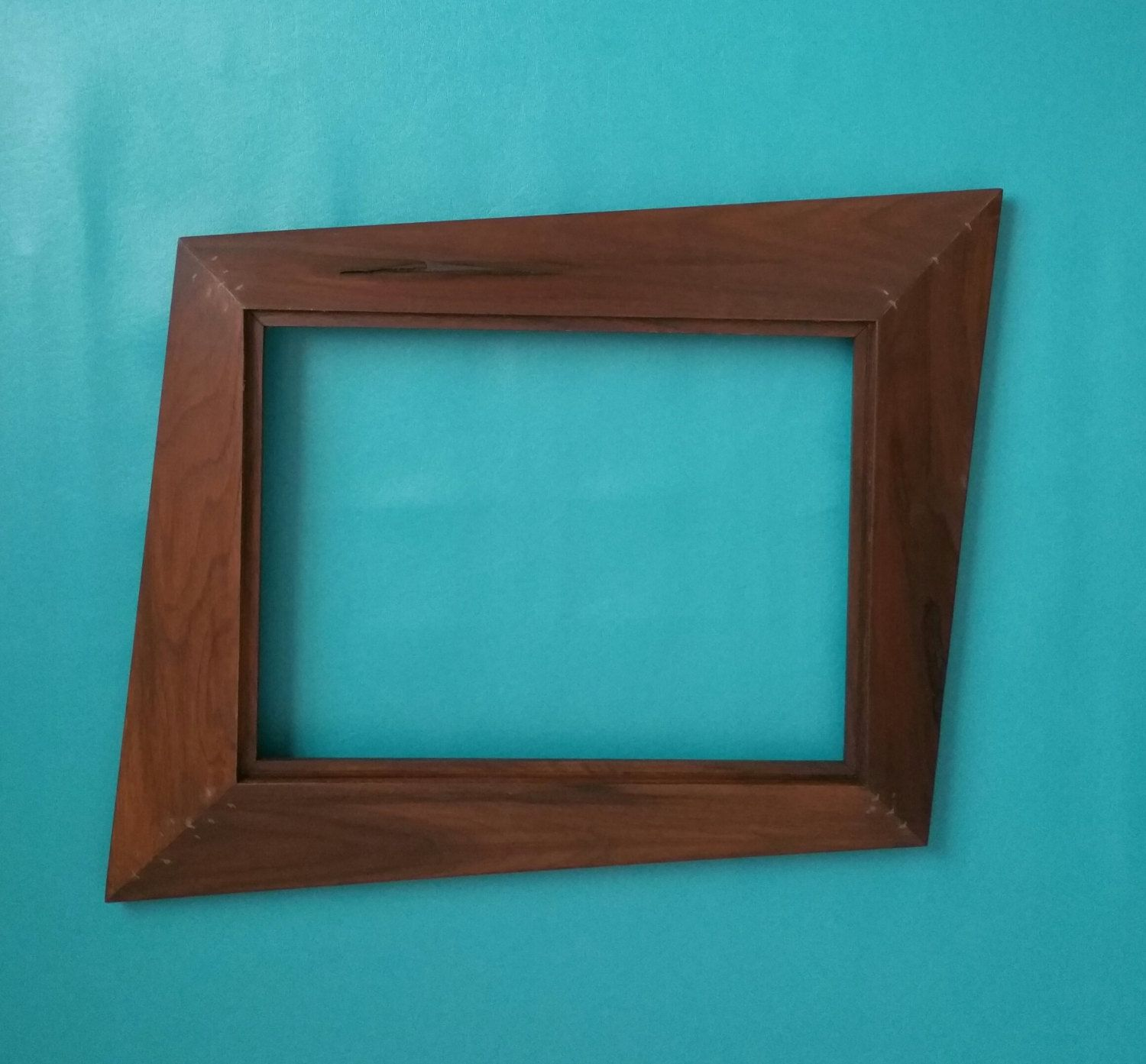 forced perspective trapezoid picture frame mid century mirror frames by antiquatedrevolution on etsy - Mid Century Picture Frames