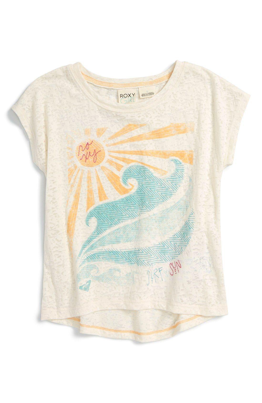 5f87dc6259e3 Surf Hair, Surf Girls, Roxy Clothing, Summer Clothing, Kids Shirts, Tee