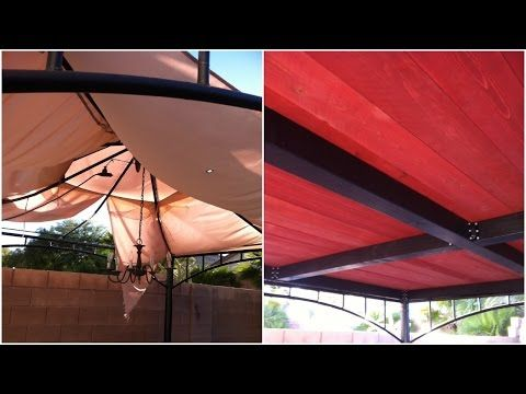 Turn Your Old Ripped Target Gazebo Into This Replacement