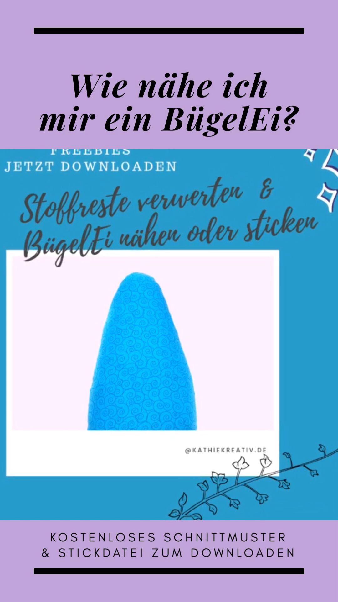BügelEi nähen oder sticken • KathieKreativ.de