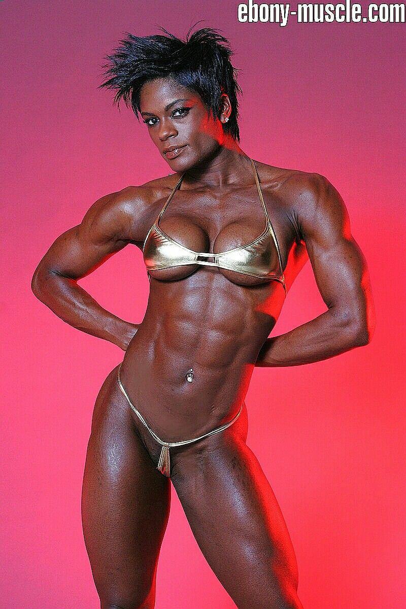 Naked black female body builders