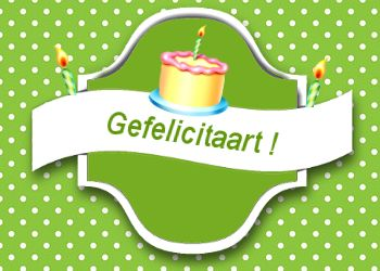 Gefeliciteaart met je verjaardag