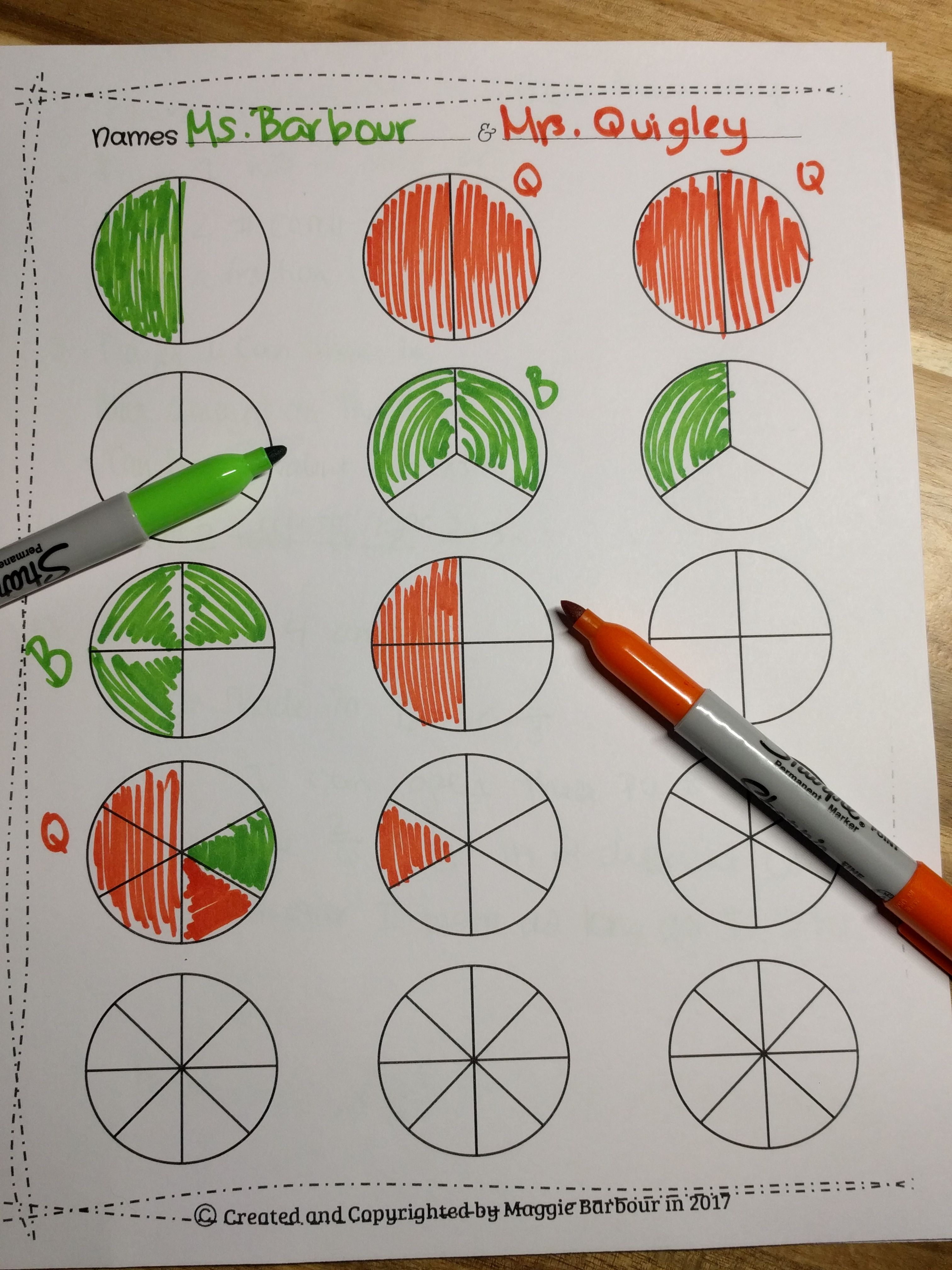 Equivalent Fractions Game More Than Half