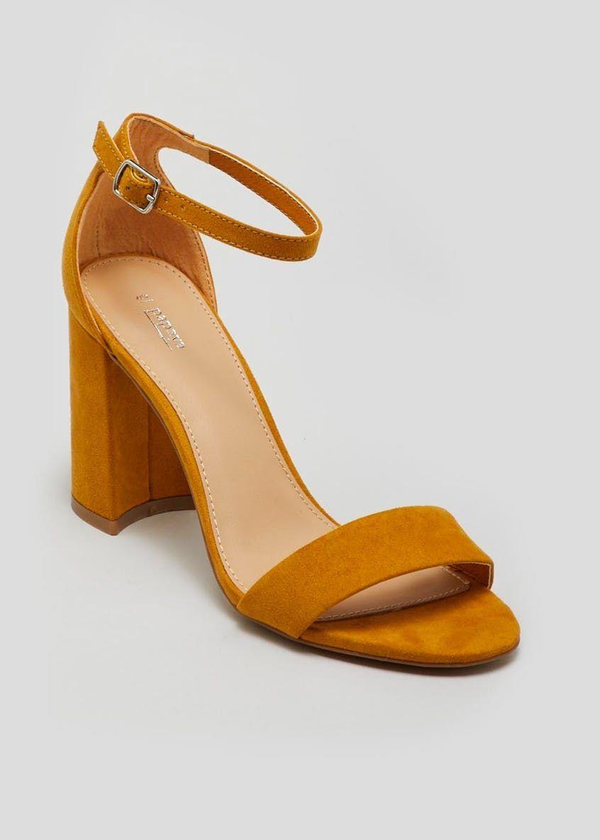 259bd8df2324 Block Heel Strappy Sandals – Mustard – Matalan  flipflopsmatalan ...